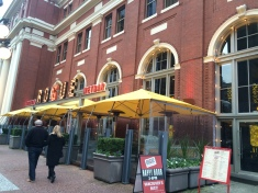 Waterfront Station has many activity generating amenities that go beyond moving people. Pictured here is Rogue, a gastropub, that is open from midday till the late evening.